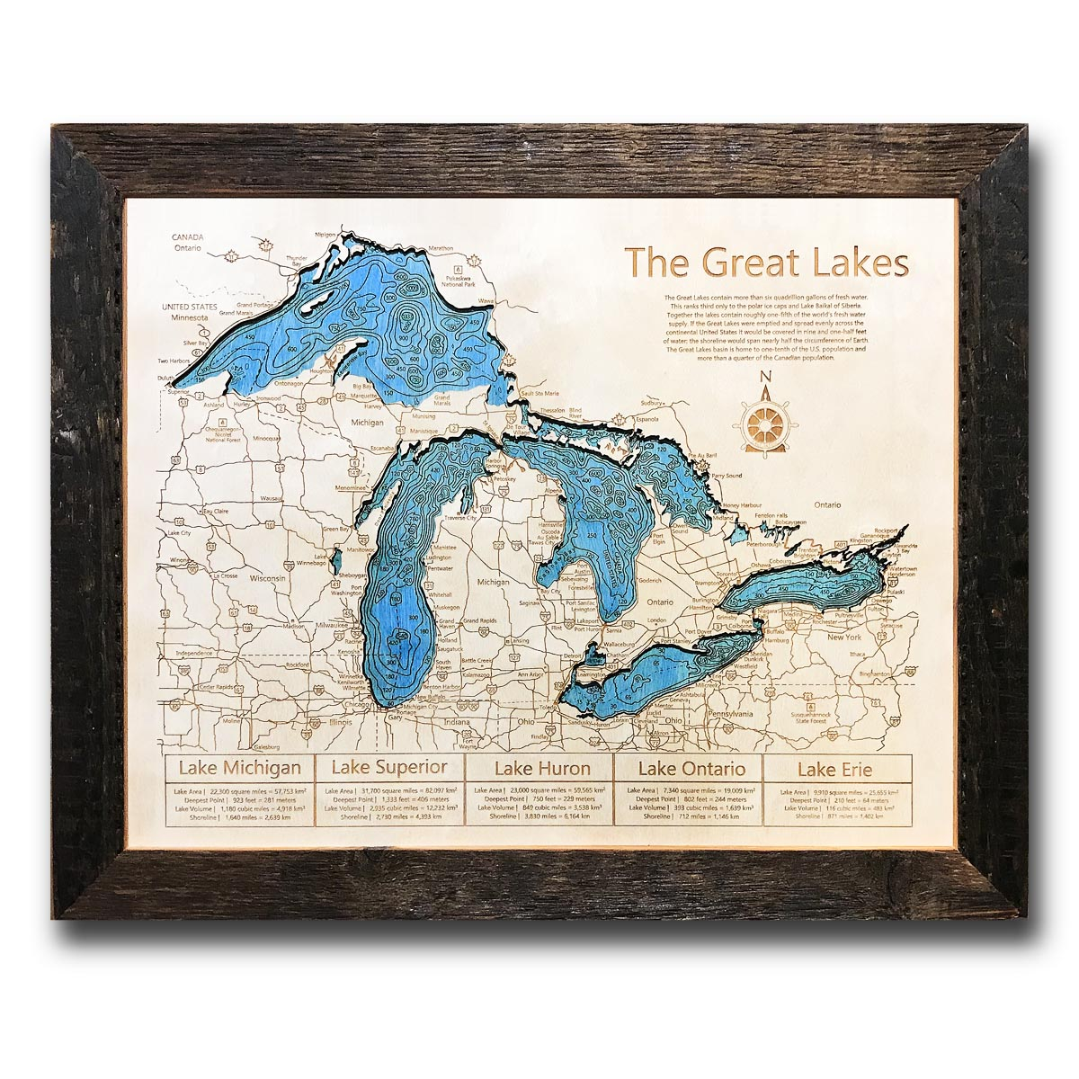 Great Lakes Wood Map