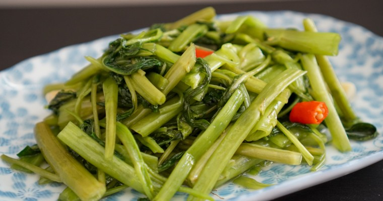 空芯菜炒め (Stir-Fried Morning Glory/Rau Muong Xao Toi)