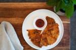 えのきとベーコンのチーズガレット (Enoki mushrooms and bacon cheese galette)