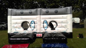 Its a knockout washing machine inflatable games