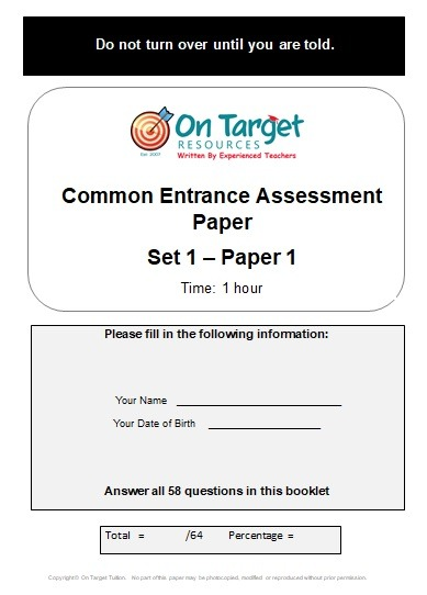 AQE Practice papers