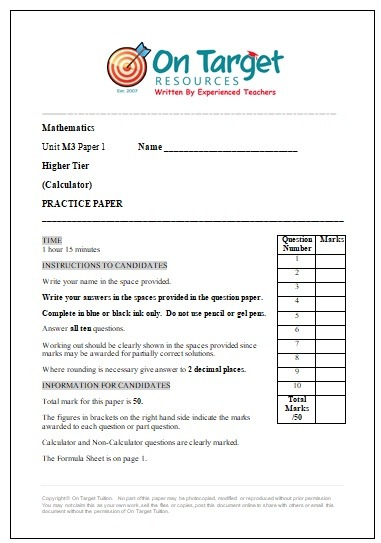 CCEA GCSE Maths Papers