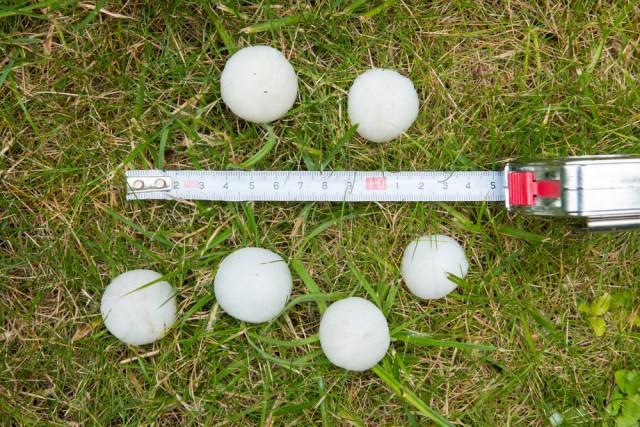 Large Hailstones