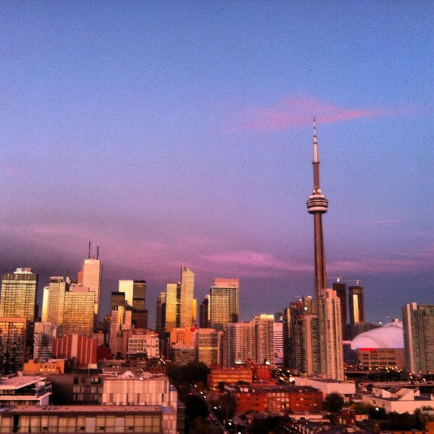 Toronto Sunset from Thompson Hotel