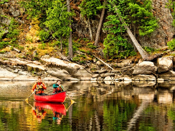 Canoeing on the French River