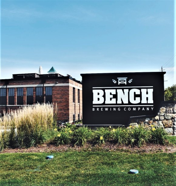 Front view of Bench Brewing Company