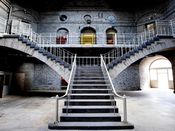 The stairs inside the Kingston Penitentiary.