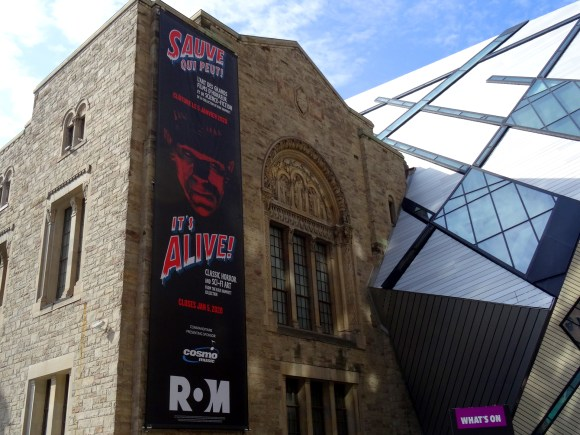 Exterior of the Royal Ontario Museum.