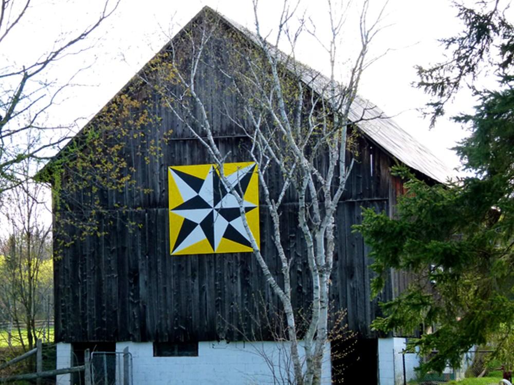 Barn quilt design named 'Northern Lights'