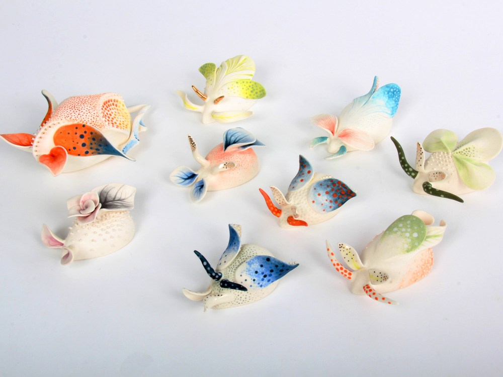 Image of delicate ceramics by artist Daumante Stirbyte.