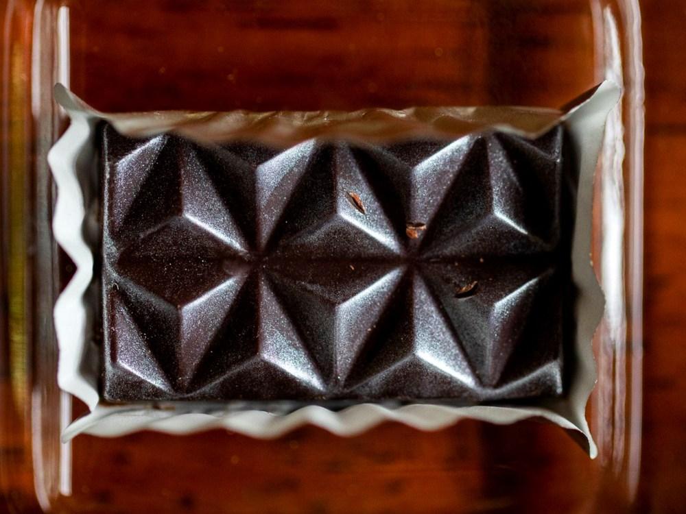 Close-up of artisanal chocolate