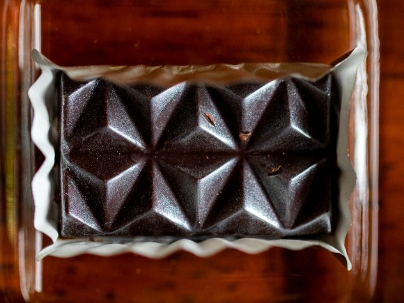 Close-up of artisanal chocolate