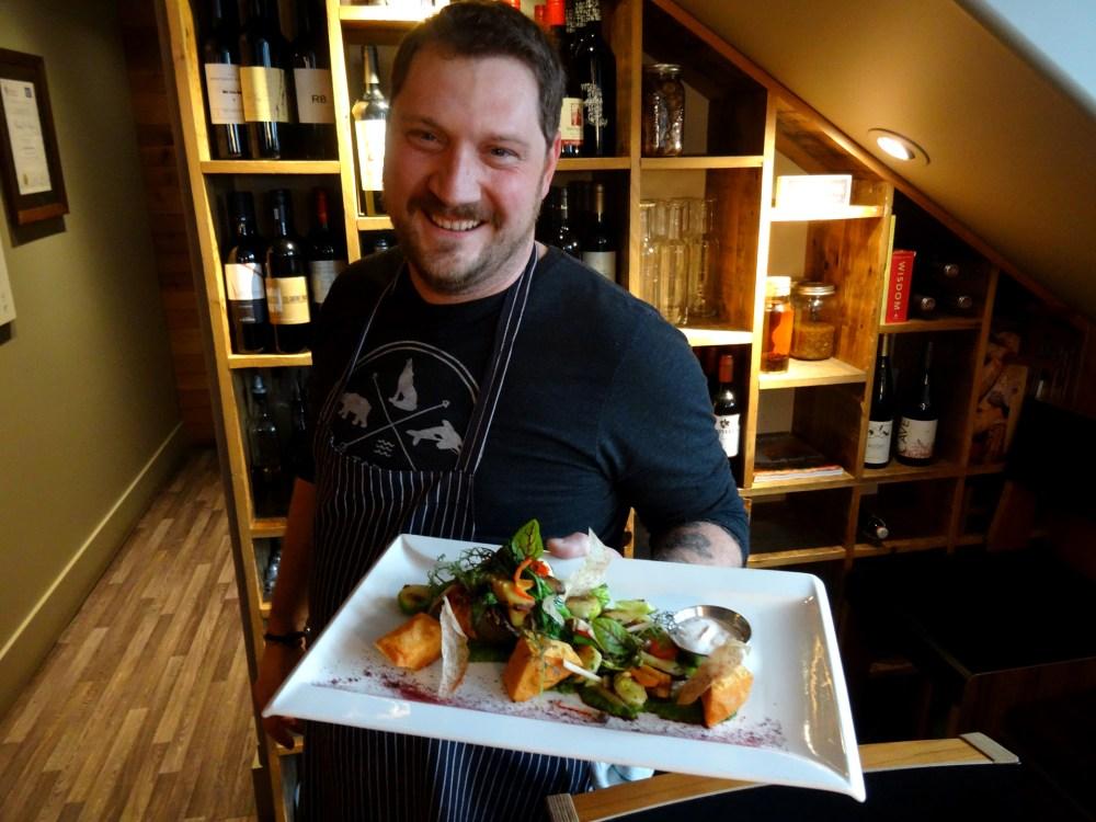 Chef Shaun Edmonstone at Bruce Wine Bar & Kitchen