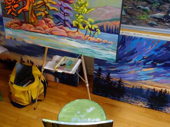 Workstation of artist Suzette Terry in Clarksburg