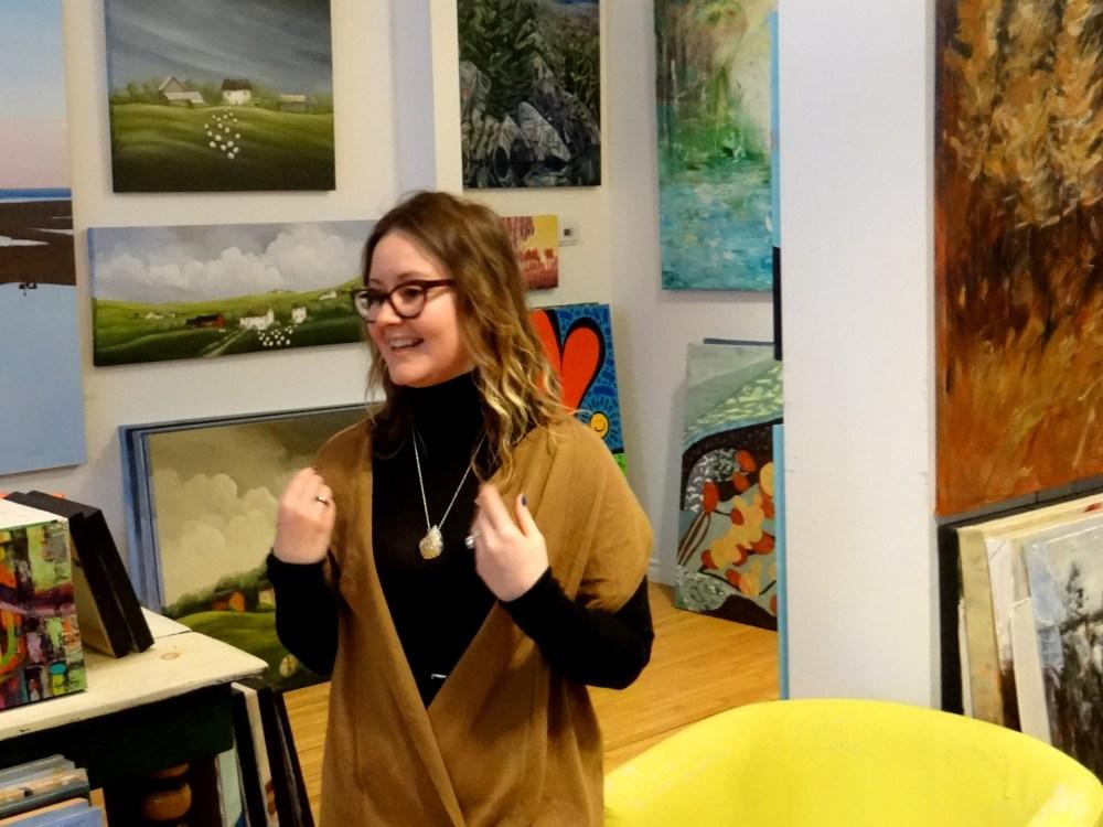 Sarah Filion, owner of Matilda Swanson Gallery