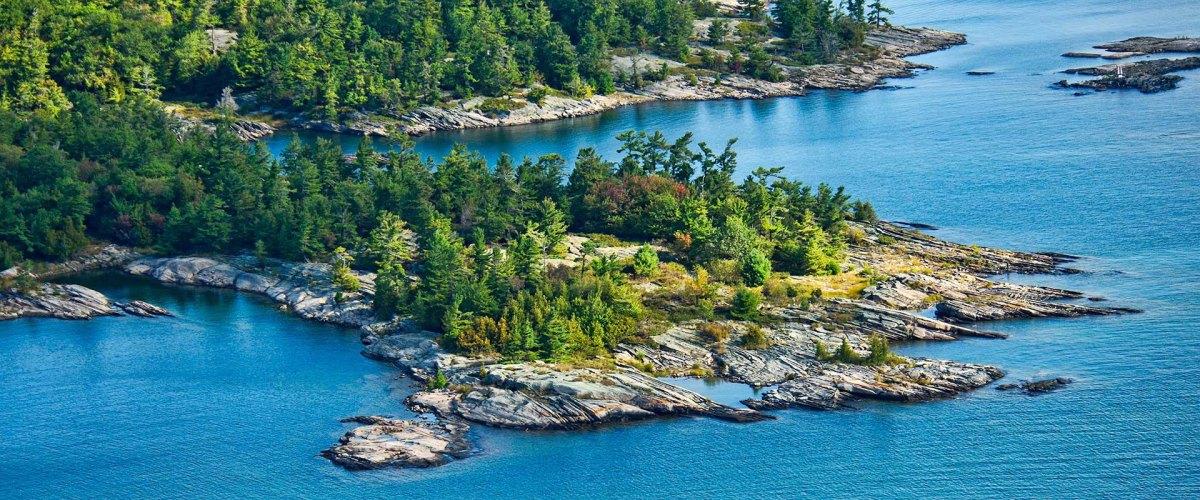 aerial shot of Georgian Bay