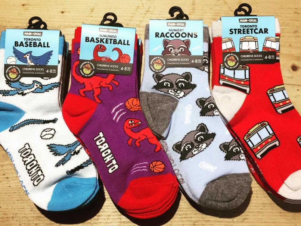 Four pairs of fun socks