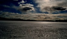 Lake of Two Rivers, frozen Algonquin.