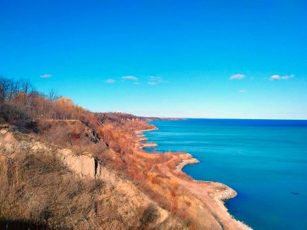 The bluffs go on for miles.