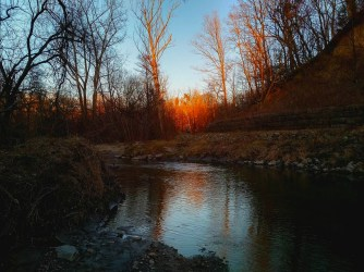 The Don river at sunset.