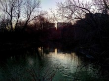 "Sunset over the ""point,"" at the forks of the East and West Don river."