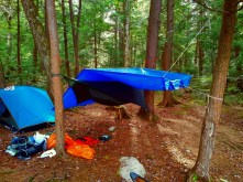 Final camp set up with a extra tarp for added protection.