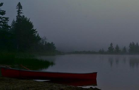 Misty summer mornings on Gurd Lake.