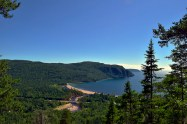 Old Woman Bay from a hike.
