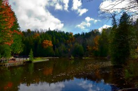 The millpond in the fall sun.