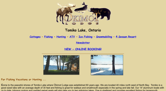Cottages and Cabins for rent in Crystal Falls - Lake Tomiko.