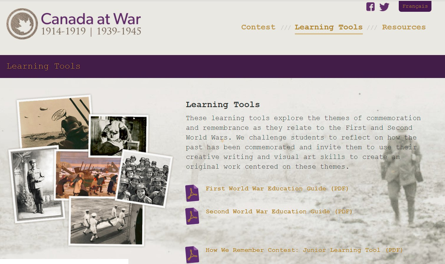 Canada At War Learning Tools For Remembrance Day