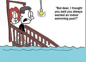 wet basement cartoon image