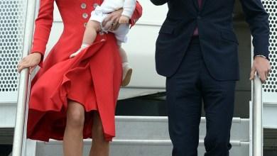 صور تألق الاميرة كيت مع ابنها بثوب أحمر يخطف الانفاس في نيوزيلندا