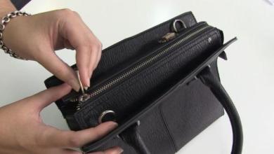 حقيبة يد تغلق اتوماتيكياً اذا زادت مصاريف التسوق عن حدها