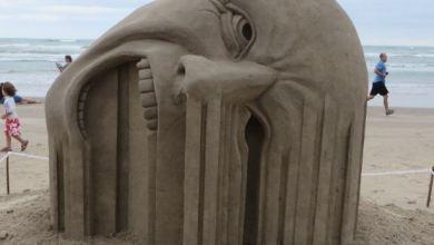 منحوتات رملية مدهشة من ابداع الفنان الكندي Guy-Olivier Deveau