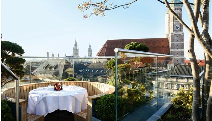 terraza en la azotea con vistas sobre Munich