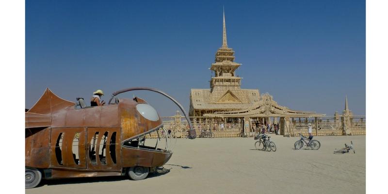 El templo de Burning Man, 2012. Foto: Steve Jurvetson