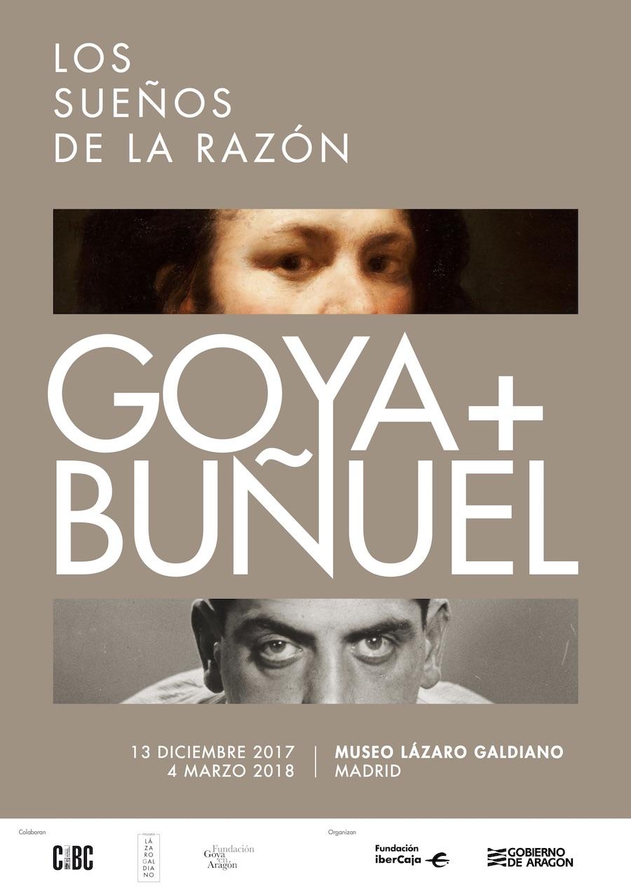 Cartel de la exposición Goya y Buñuel. Los sueños de la razón en el Museo Lázaro Galdiano, Madrid