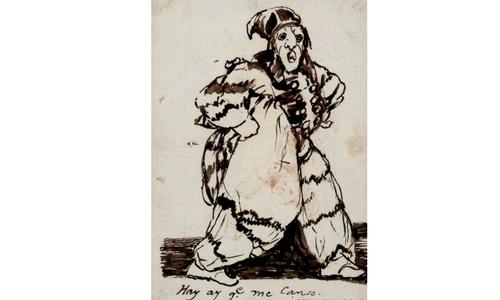 Hay que me canso. Rosario Weiss y Francisco de Goya. Dibujo de formación, 1921-26. BNE.