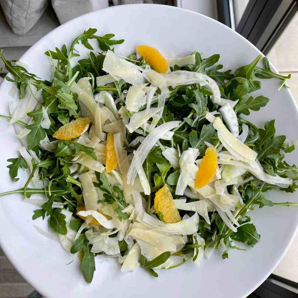 arugula salad with orange vinaigrette