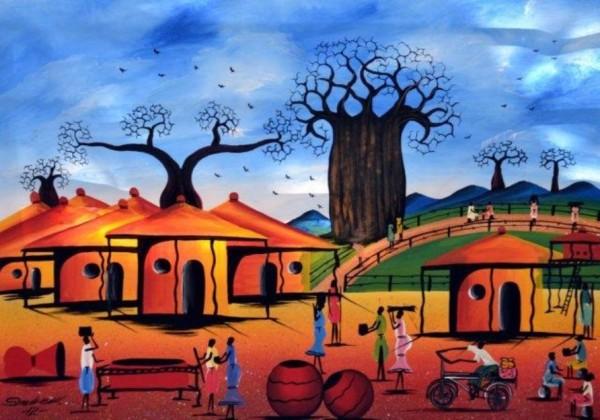 African-Village-Art--600x420
