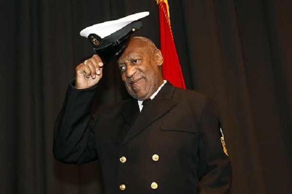 Comedian Bill Cosby is recognized as an Honorary Chief Petty Officer, during a ceremony in Washington, on Thursday, Feb. 17, 2011. (AP Photo/Jacquelyn Martin)