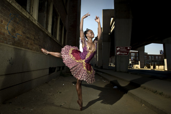120712 CITY PRESS NEWS. Photo shoot with Michaela DePrince. She was little more than a toddler when she saw her first ballerina – an image in a magazine page blown against the gate of the orphanage where she ended up during Sierra Leone's civil war. Both her parents were killed during war and she was adopted by a Canadian couple. She is currently in South Africa dancing. PHOTO HERMAN VERWEY CITY PRESS