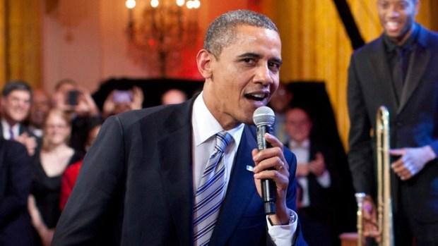 Singing Obama