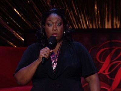 African woman comedian deep throats a dildo 6