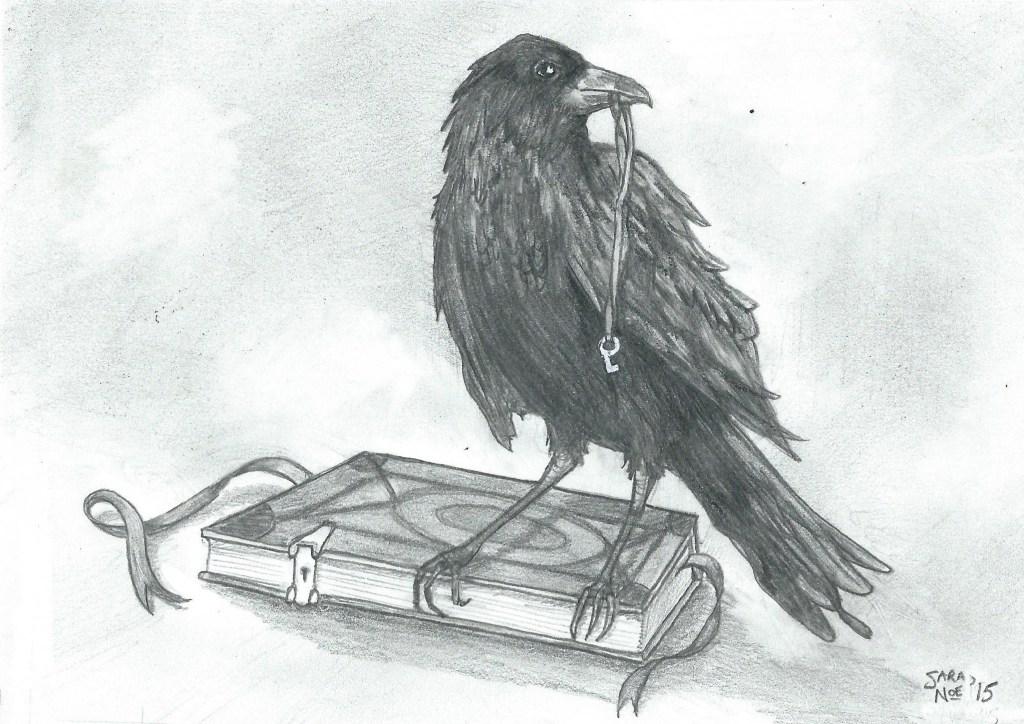 pencil artwork raven book Sara A. Noe