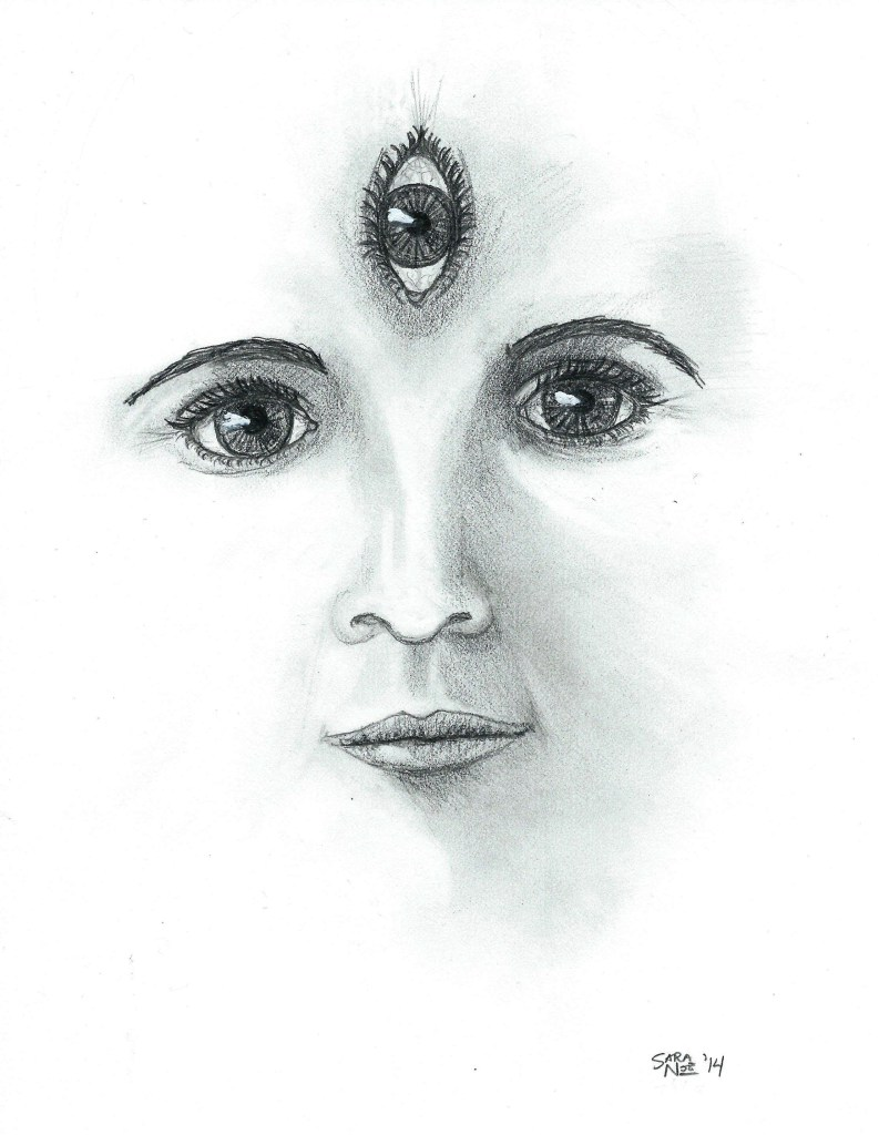 All-Seer Chronicles of Avilesor pencil artwork Sara A. Noe