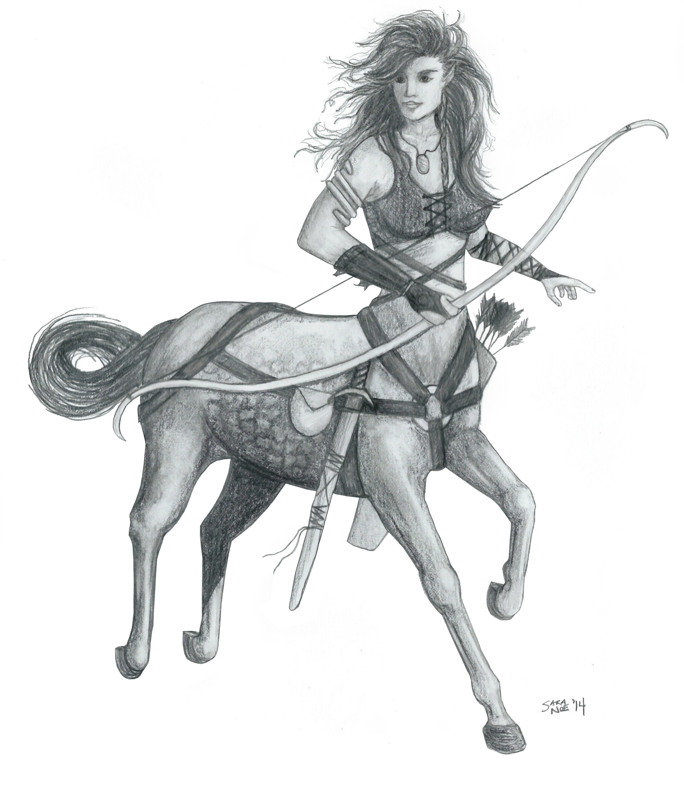 Centaur from Chronicles of Avilesor: War of the Realms series by Sara A. Noe