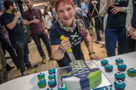 """Nikki and """"the cake"""" - by Huw Williams"""