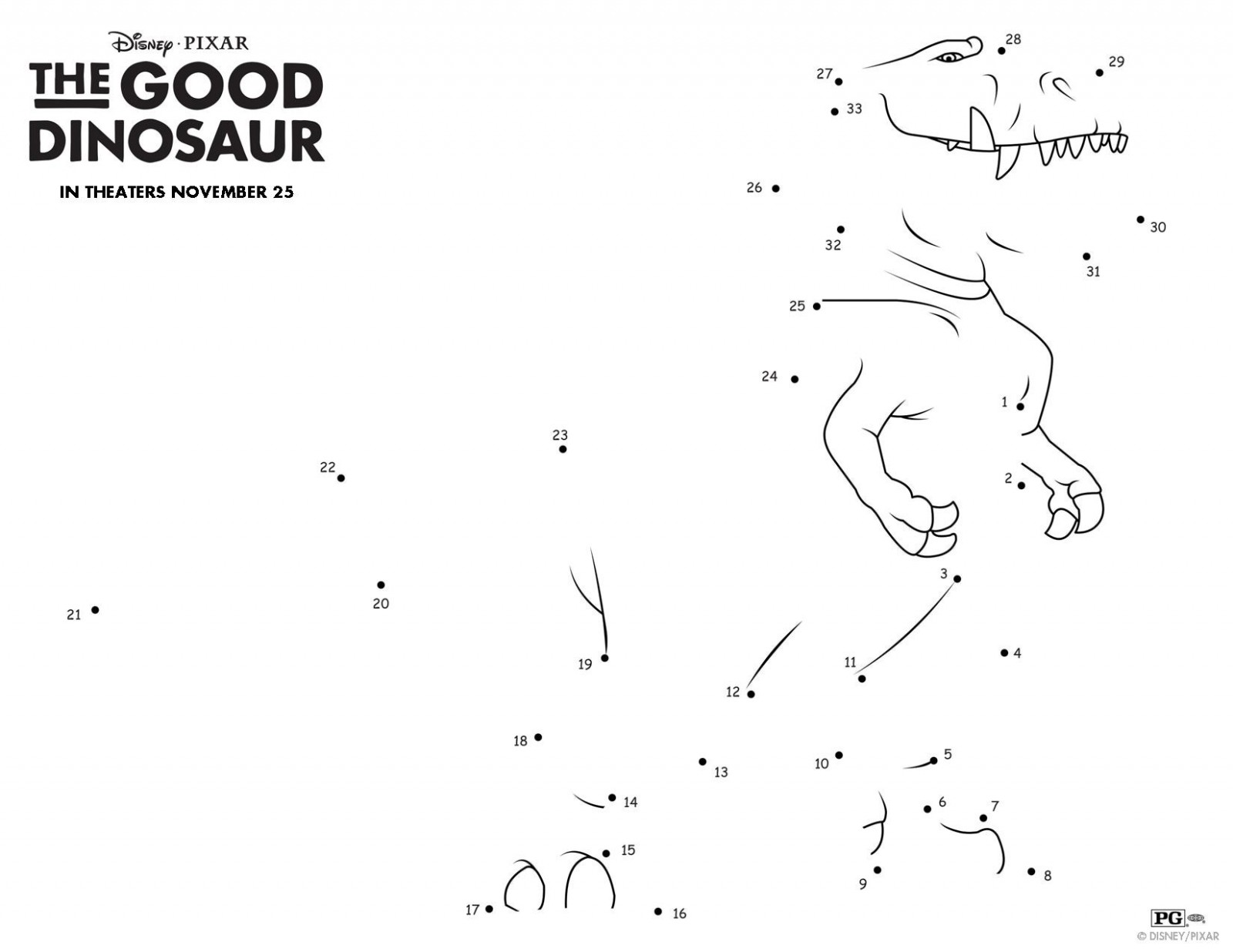 The Good Dinosaur Connect The Dots Page 003